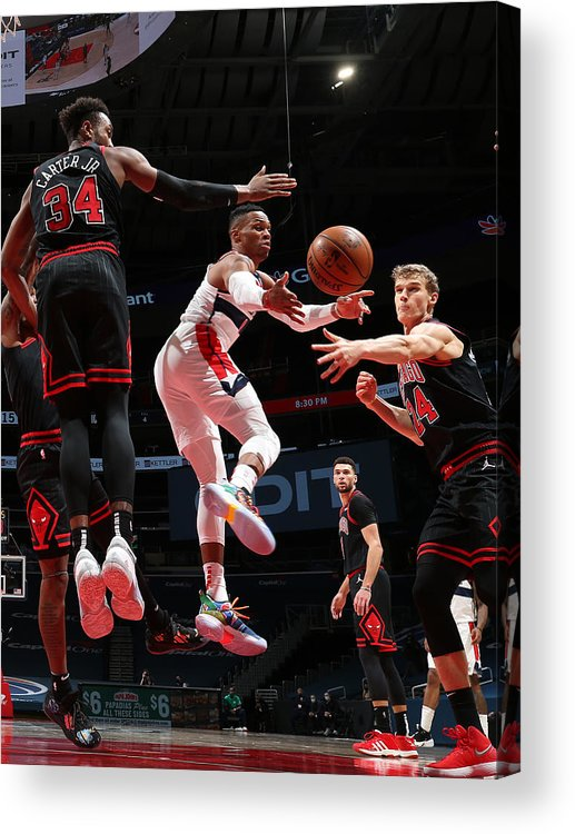 Nba Pro Basketball Acrylic Print featuring the photograph Russell Westbrook by Stephen Gosling