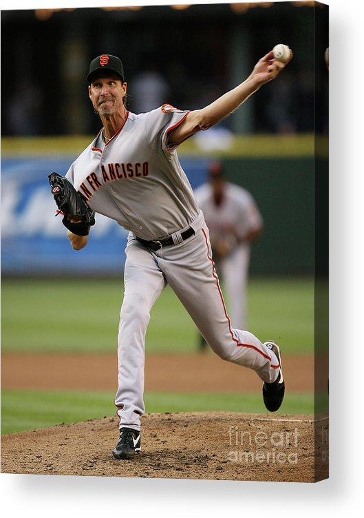 People Acrylic Print featuring the photograph Randy Johnson by Otto Greule Jr