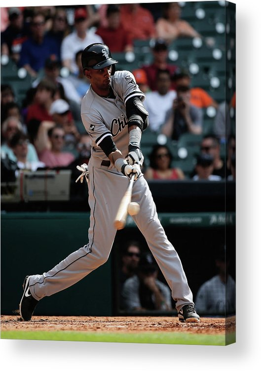 American League Baseball Acrylic Print featuring the photograph Alexei Ramirez by Scott Halleran