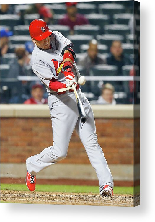 St. Louis Cardinals Acrylic Print featuring the photograph Allen Craig by Jim Mcisaac