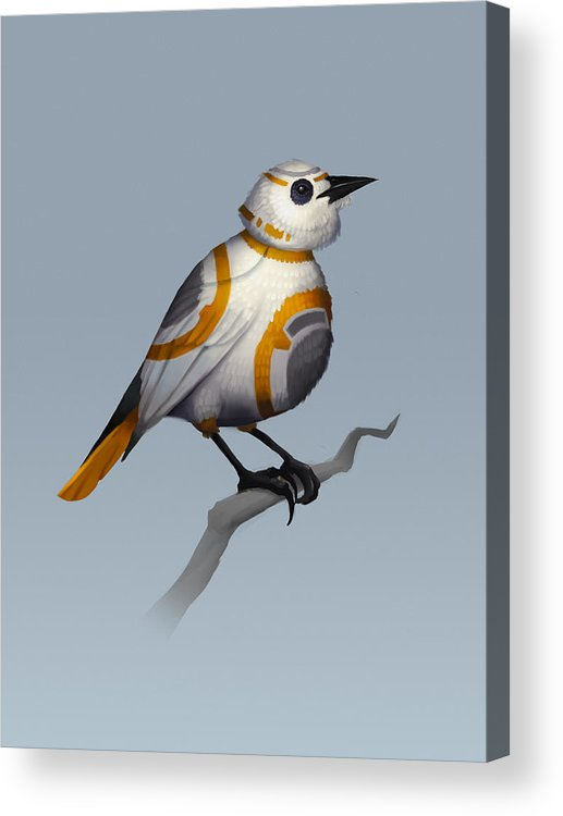 Birds Acrylic Print featuring the digital art BB Bird by Michael Myers