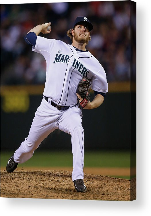 American League Baseball Acrylic Print featuring the photograph Brandon Maurer by Otto Greule Jr