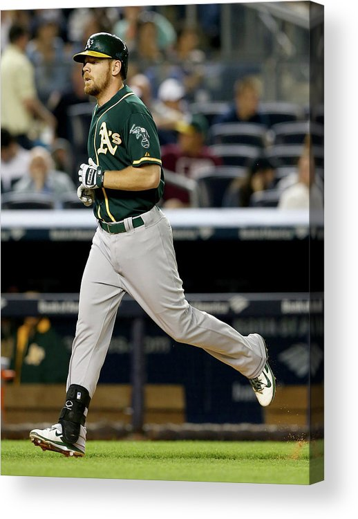 American League Baseball Acrylic Print featuring the photograph Brandon Moss by Elsa