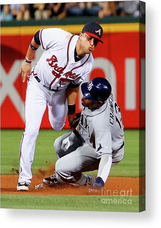Atlanta Acrylic Print featuring the photograph Carl Crawford and Martin Prado by Kevin C. Cox