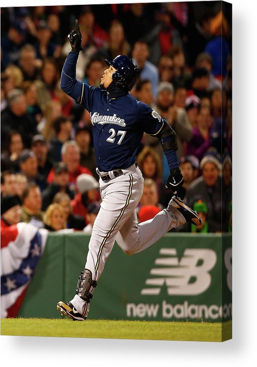 American League Baseball Acrylic Print featuring the photograph Carlos Gomez by Jared Wickerham