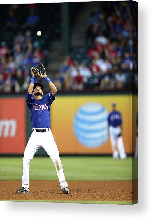 American League Baseball Acrylic Print featuring the photograph Carlos Santana by Rick Yeatts