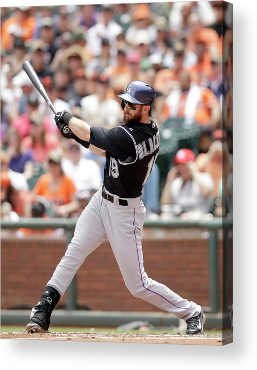 San Francisco Acrylic Print featuring the photograph Charlie Blackmon by Ezra Shaw