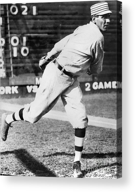 People Acrylic Print featuring the photograph Chief Bender by National Baseball Hall Of Fame Library