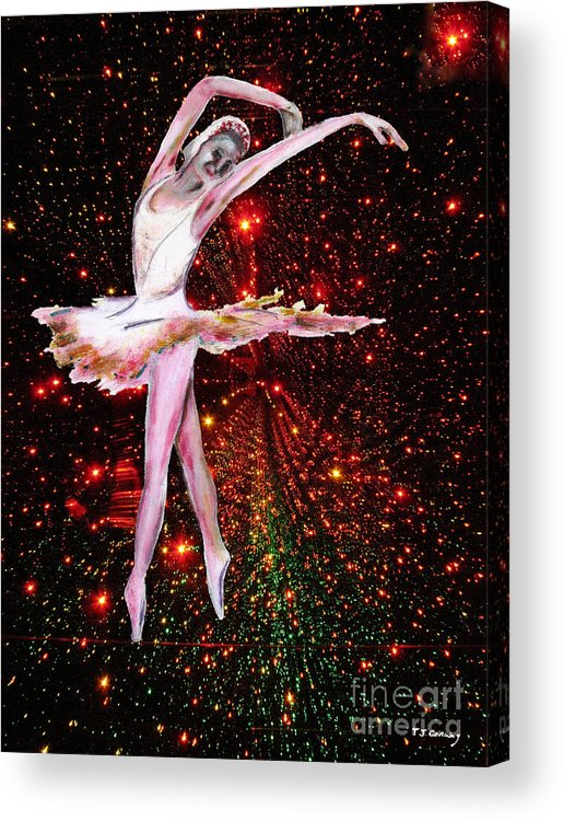 Females Acrylic Print featuring the painting Cosmic Dancer by Tom Conway
