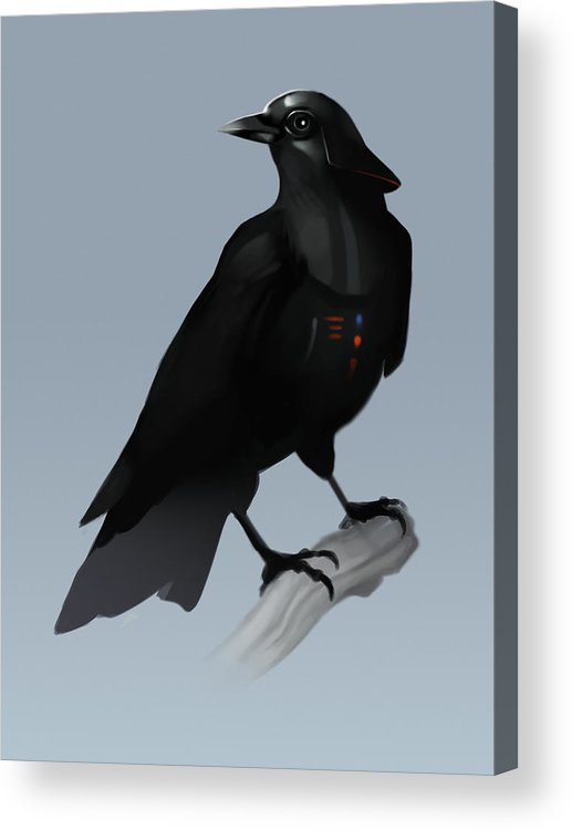 Birds Acrylic Print featuring the digital art Crow Vader by Michael Myers