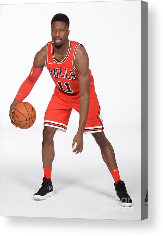 Media Day Acrylic Print featuring the photograph David Nwaba by Randy Belice