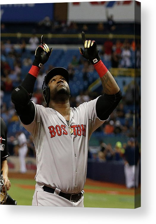 David Ortiz Acrylic Print featuring the photograph David Ortiz and Matt Moore by Brian Blanco
