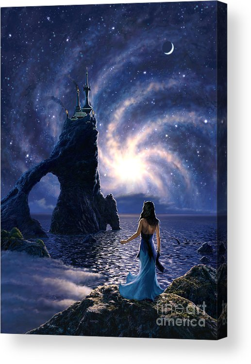 Space Acrylic Print featuring the painting Far Synura by Stu Shepherd