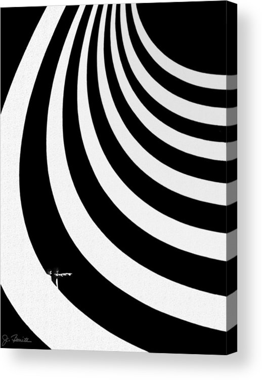 Guggenheim Museum Acrylic Print featuring the photograph Guggenheim Plus by Joe Bonita