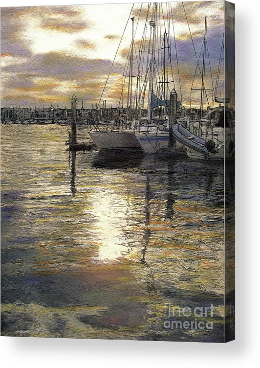 Reflections Acrylic Print featuring the pastel Hiolani II by Randy Sprout