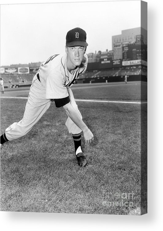 American League Baseball Acrylic Print featuring the photograph Jim York by Kidwiler Collection