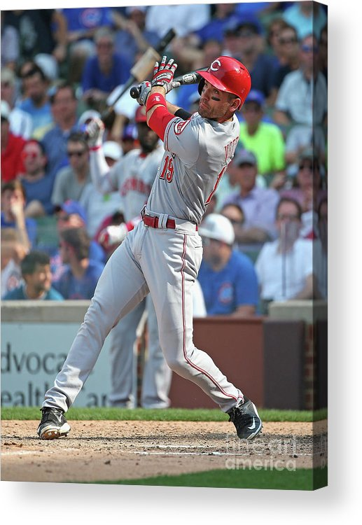 People Acrylic Print featuring the photograph Joey Votto by Jonathan Daniel
