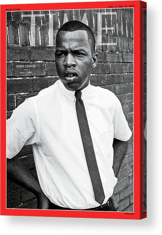 Rep. John Lewis Acrylic Print featuring the photograph John Lewis 1940-2020 by Steve Schapiro Getty Images