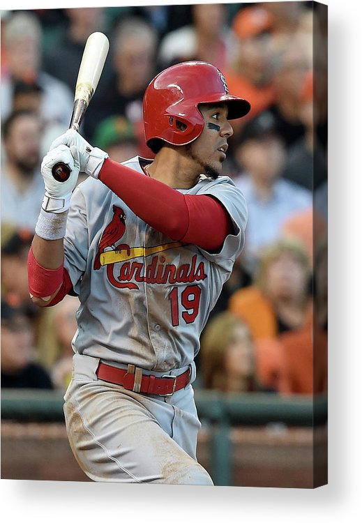 St. Louis Cardinals Acrylic Print featuring the photograph Jon Jay by Thearon W. Henderson