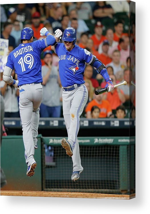 People Acrylic Print featuring the photograph Josh Donaldson by Bob Levey