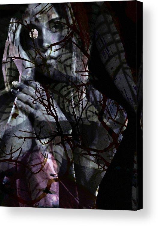 Woman Acrylic Print featuring the digital art Luna by Gunilla Munro Gyllenspetz