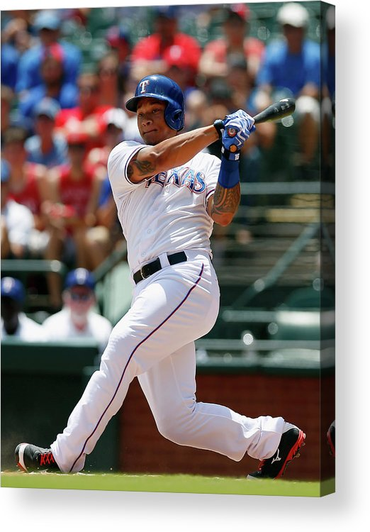 American League Baseball Acrylic Print featuring the photograph Michael Choice by Tom Pennington