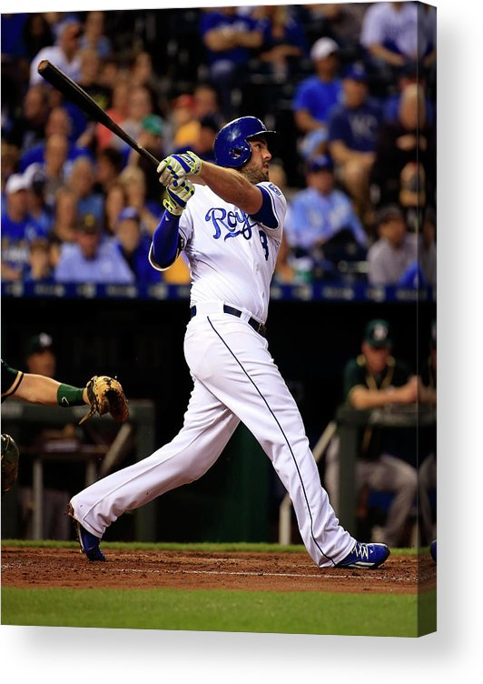 American League Baseball Acrylic Print featuring the photograph Mike Moustakas by Jamie Squire