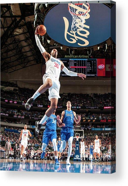 Nba Pro Basketball Acrylic Print featuring the photograph Mike Scott by Glenn James