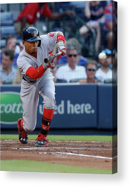 Atlanta Acrylic Print featuring the photograph Mookie Betts by Mike Zarrilli