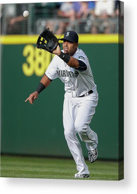 People Acrylic Print featuring the photograph Nelson Cruz and Mark Canha by Otto Greule Jr