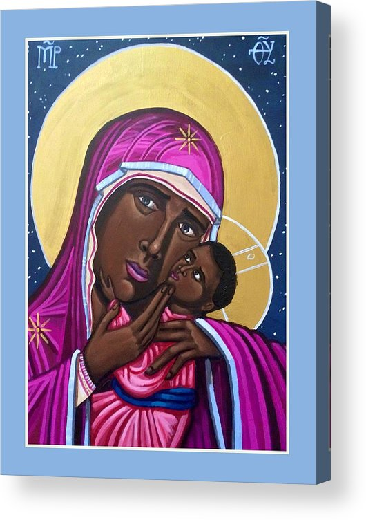 Acrylic Print featuring the painting Our Lady Mother of the Streets by Kelly Latimore