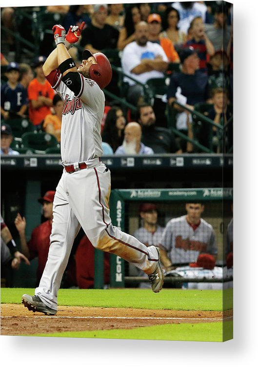 People Acrylic Print featuring the photograph Pat Neshek and Welington Castillo by Scott Halleran