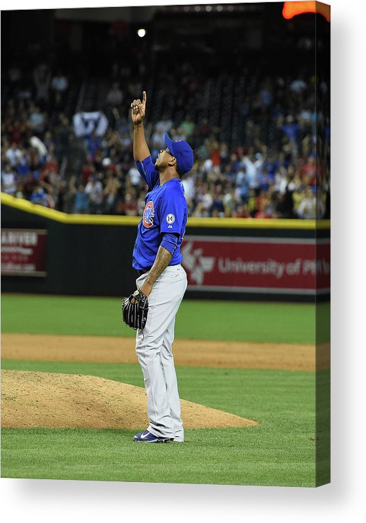 American League Baseball Acrylic Print featuring the photograph Pedro Strop by Norm Hall