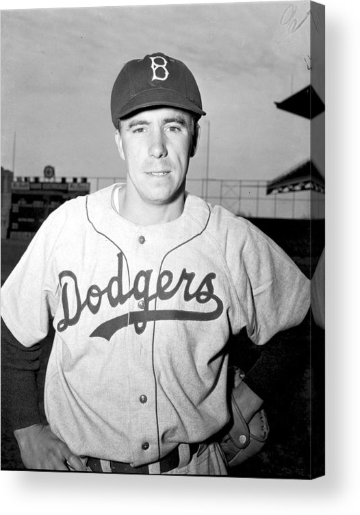 People Acrylic Print featuring the photograph Pee Wee Reese by Kidwiler Collection