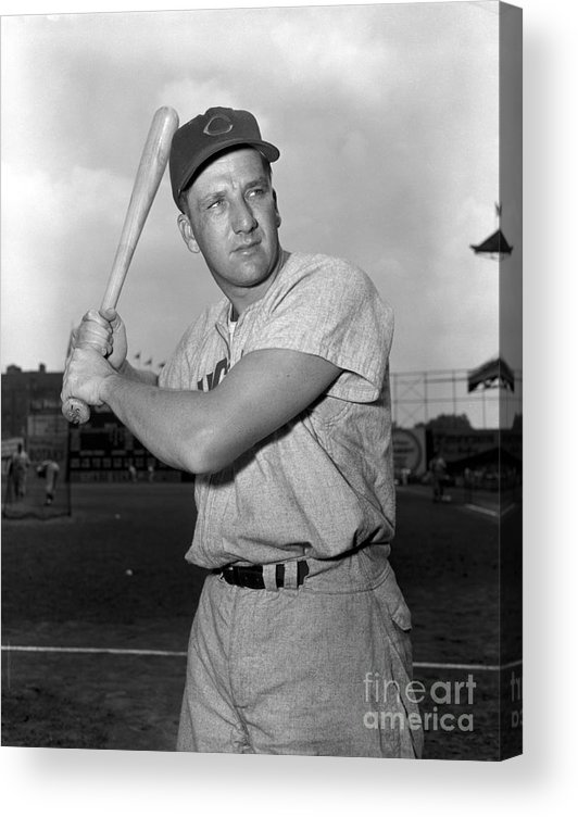 Three Quarter Length Acrylic Print featuring the photograph Ralph Kiner by Kidwiler Collection