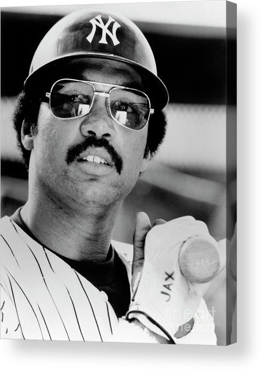 American League Baseball Acrylic Print featuring the photograph Reggie Jackson by National Baseball Hall Of Fame Library