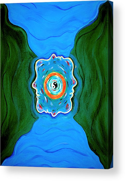 Taoist Acrylic Print featuring the painting River Of Dreams by Donna Proctor