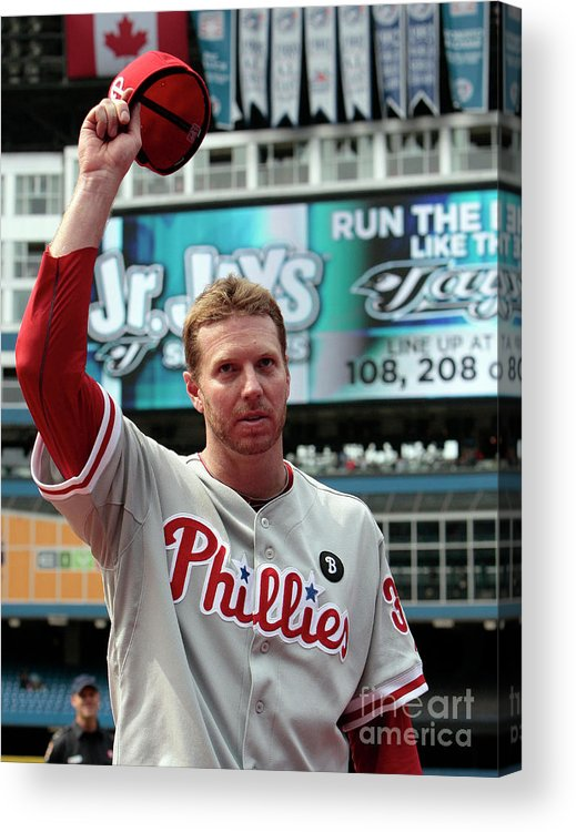 People Acrylic Print featuring the photograph Roy Halladay by Abelimages