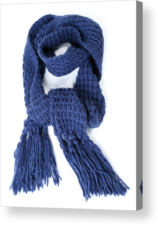 White Background Acrylic Print featuring the photograph Scarf by Antagain