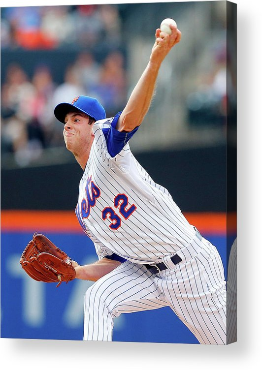 American League Baseball Acrylic Print featuring the photograph Steven Matz by Jim Mcisaac
