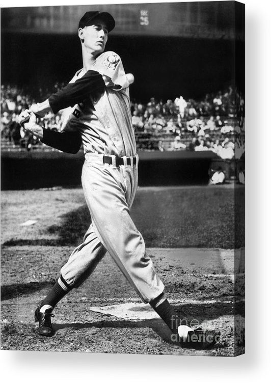 People Acrylic Print featuring the photograph Ted Williams by National Baseball Hall Of Fame Library