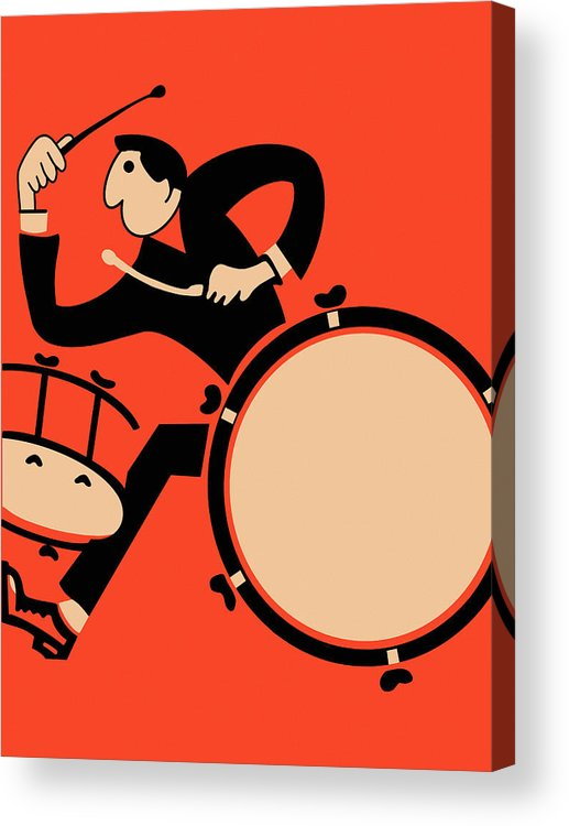 Drum Acrylic Print featuring the photograph The Drummer by Mark Rogan