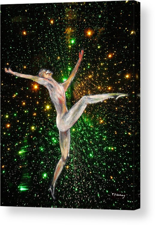 Dance Acrylic Print featuring the painting The Light Fantastic Dance and Stars by Tom Conway