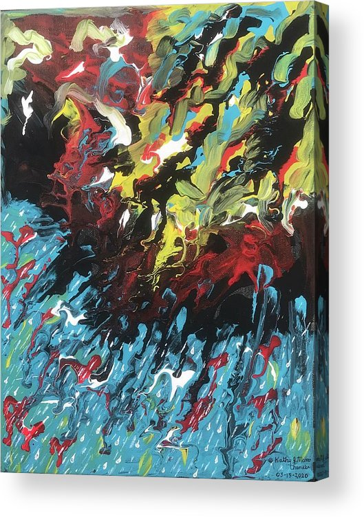 Thunderstorm Acrylic Print featuring the painting Thunderstorm by Kathy Marrs Chandler