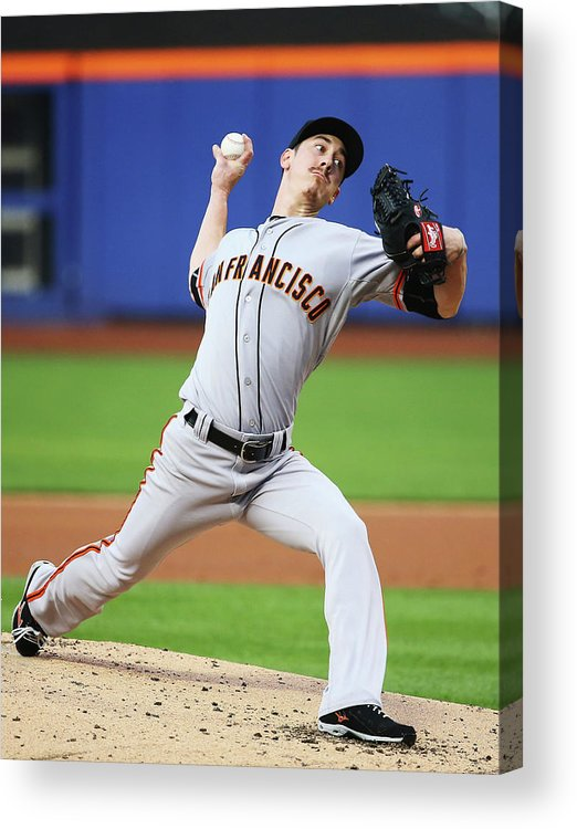 American League Baseball Acrylic Print featuring the photograph Tim Lincecum by Al Bello