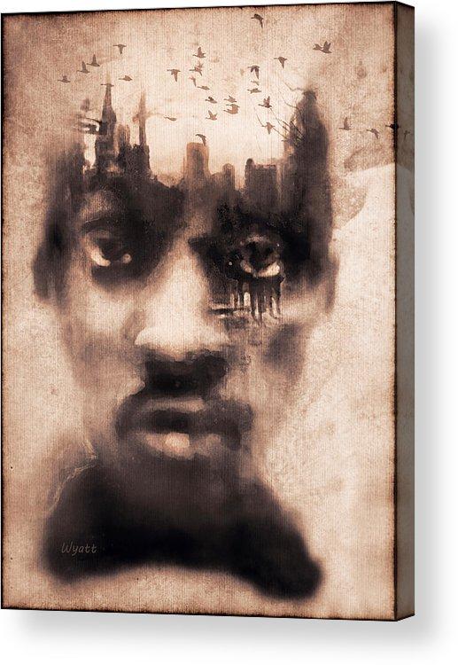 Digital Image Acrylic Print featuring the digital art Urban Mindset by Regina Wyatt