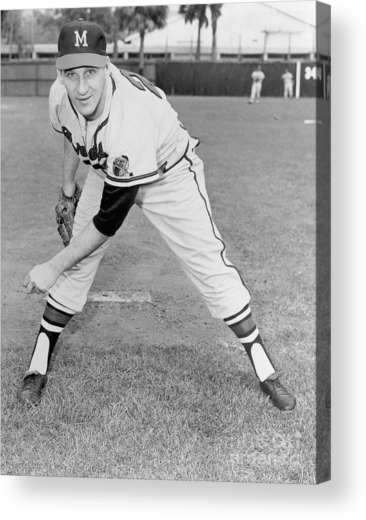 1950-1959 Acrylic Print featuring the photograph Warren Spahn by National Baseball Hall Of Fame Library