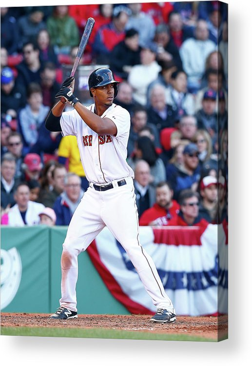American League Baseball Acrylic Print featuring the photograph Xander Bogaerts by Jared Wickerham