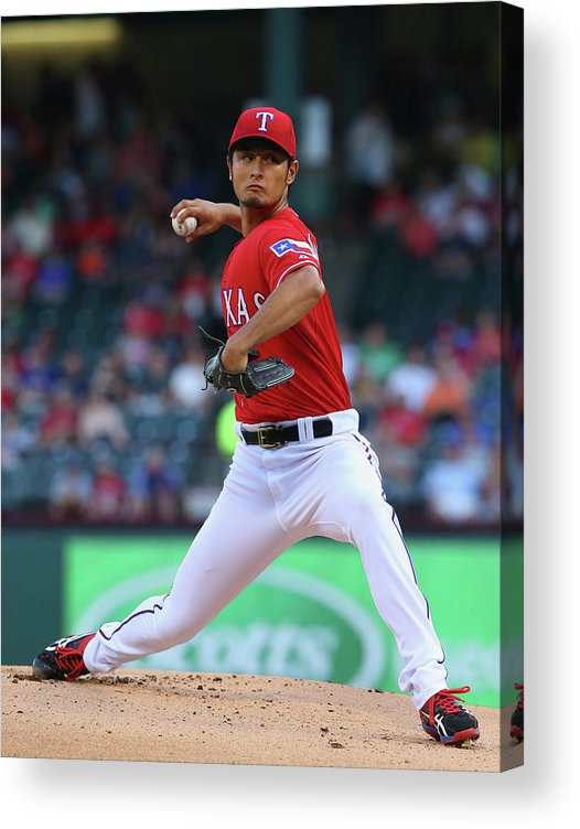 American League Baseball Acrylic Print featuring the photograph Yu Darvish by Ronald Martinez