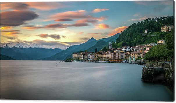 Sunset in Bellagio on Lake Como by James Udall